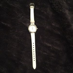 Fossil wrist watch in white with a small face